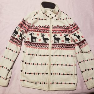 UNIQLO reindeer snow fleece sweater